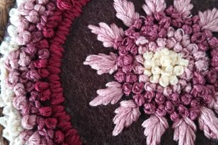 Mandala Keyrings with S Stitched